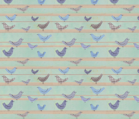 Bird Confidential fabric by jenimp on Spoonflower - custom fabric