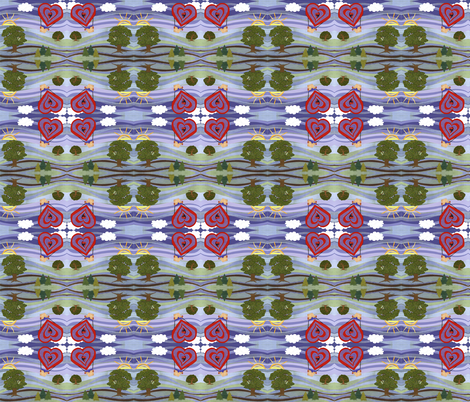 Up, up and Away... fabric by poetryqn on Spoonflower - custom fabric