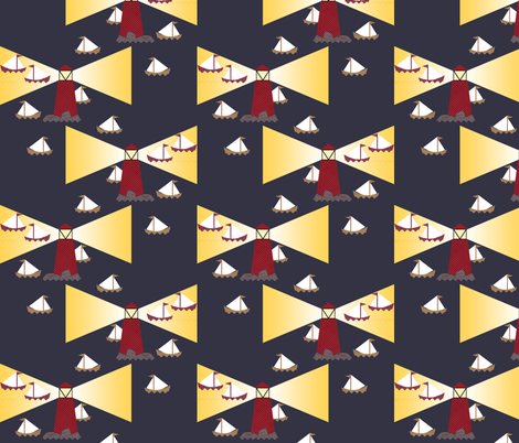 Rocky Waters fabric by inscribed_here on Spoonflower - custom fabric