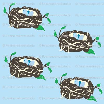 """Nesting Instinct Blue"""