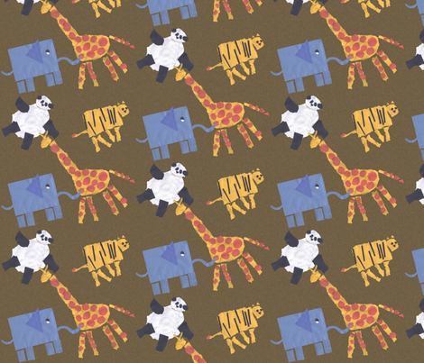 Keanu's Favorite Animals fabric by hapagirldesigns on Spoonflower - custom fabric