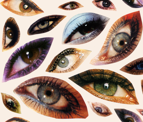 Ojos fabric by dominique on Spoonflower - custom fabric