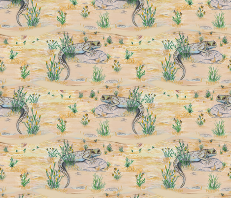 Life in the desert fabric by cytel on Spoonflower - custom fabric