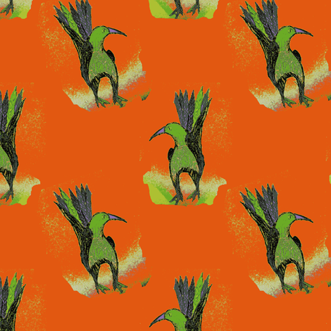 Brick, Bird fabric by nalo_hopkinson on Spoonflower - custom fabric