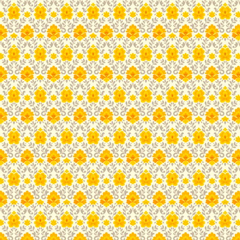 funnybunny.se background - orange fabric by helena on Spoonflower - custom fabric