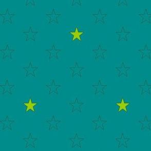 stars on heaven petrol green