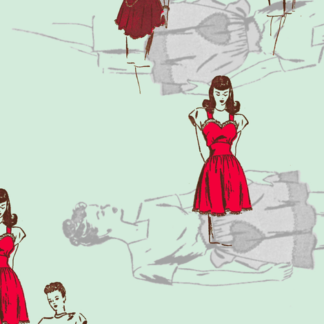 domestic goddess two fabric by nalo_hopkinson on Spoonflower - custom fabric