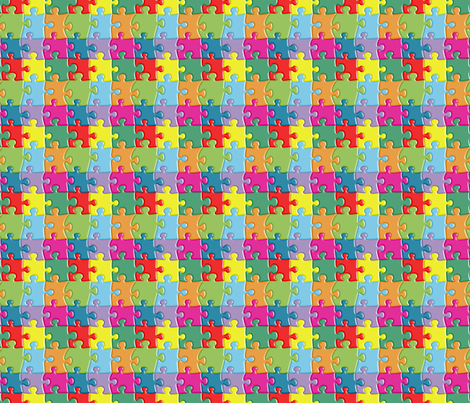 Puzzle fabric by morellco on Spoonflower - custom fabric