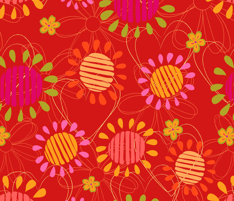 flower strawberry fabric by blingmoon on Spoonflower - custom fabric