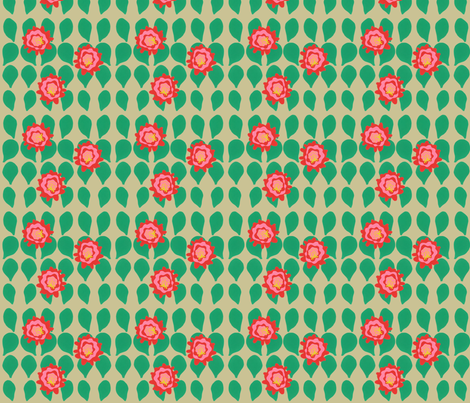 Cactus Blooms - Medium on Sand fabric by owlandchickadee on Spoonflower - custom fabric