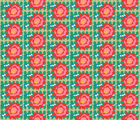 Cactus Bloom fabric by owlandchickadee on Spoonflower - custom fabric