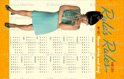 Rula's Rules #147 calendar towel