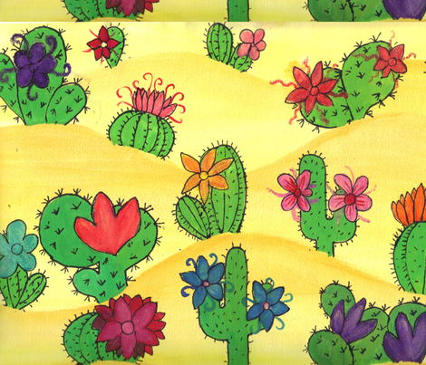 desert fabric by beckle on Spoonflower - custom fabric