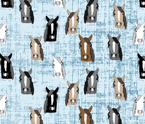 Horses fabric by owlandchickadee on Spoonflower - custom fabric