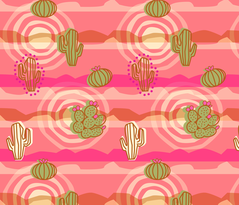 Psychedelic Pink Desert fabric by acbeilke on Spoonflower - custom fabric