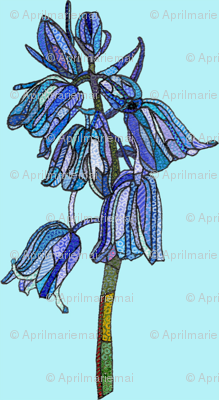 bluebell in light blue