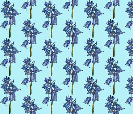 bluebell in light blue fabric by aprilmariemai on Spoonflower - custom fabric