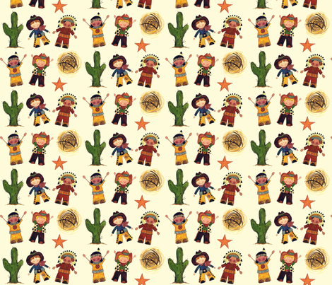 desert star friends fabric by scrummy on Spoonflower - custom fabric