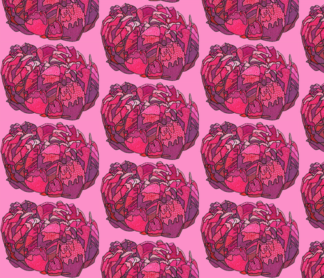 fuchsia peony in pink fabric by aprilmariemai on Spoonflower - custom fabric