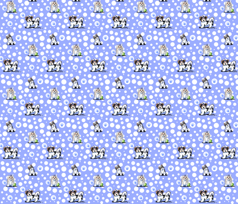 Small Biewer Terrier Boys fabric by kiniart on Spoonflower - custom fabric