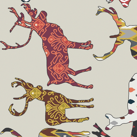 90° oatmeal spice deer larger fabric by scrummy on Spoonflower - custom fabric