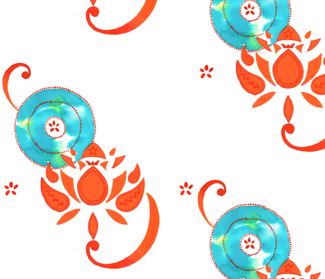 Lotus fabric by cmcreations on Spoonflower - custom fabric