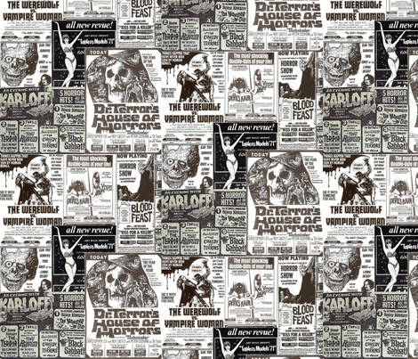 Grindhouse  fabric by tura on Spoonflower - custom fabric