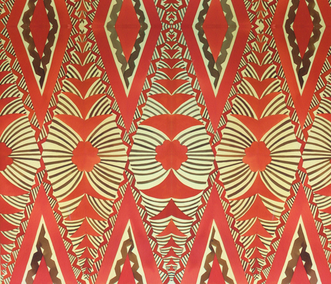 Old School,  Tongan tapa ,tradional fabric by sophista-tiki on Spoonflower - custom fabric