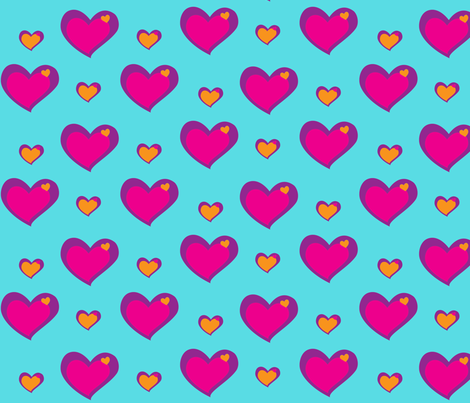 groovy_hearts fabric by snork on Spoonflower - custom fabric