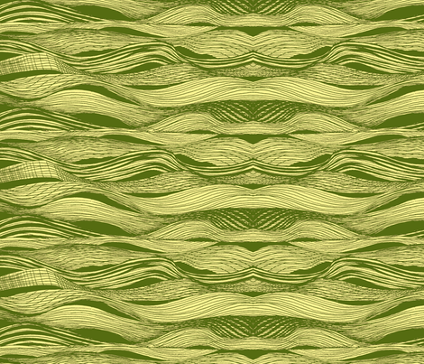 yellowgreen_wave_fabric-ch fabric by hollishammonds on Spoonflower - custom fabric