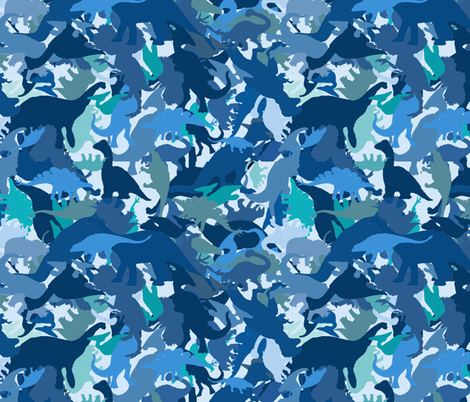 Dino Camo fabric by poetryqn on Spoonflower - custom fabric