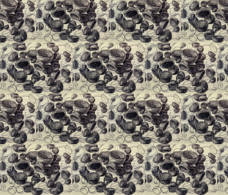 empty_vessels_2 fabric by hollishammonds on Spoonflower - custom fabric