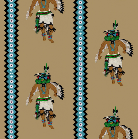 Kachina Dancer  fabric by paragonstudios on Spoonflower - custom fabric