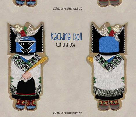 Kachina Doll fabric by paragonstudios on Spoonflower - custom fabric