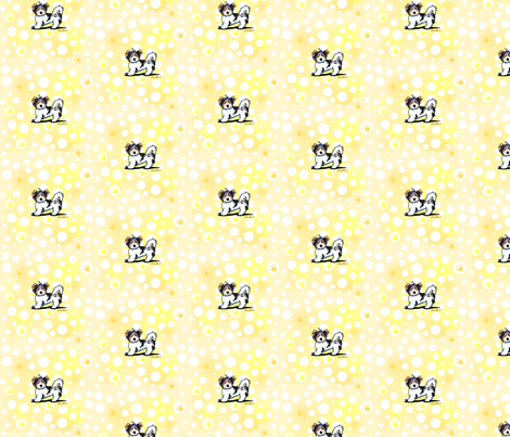 Small Banana Cream Biewer Yorkies fabric by kiniart on Spoonflower - custom fabric