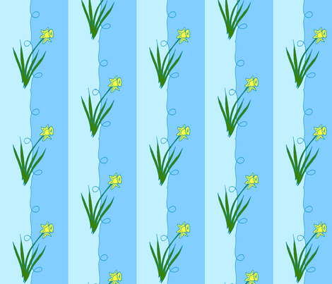 Daffodil Stripe fabric by kdl on Spoonflower - custom fabric