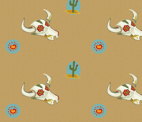 abundant_desert_life fabric by polka_jen on Spoonflower - custom fabric