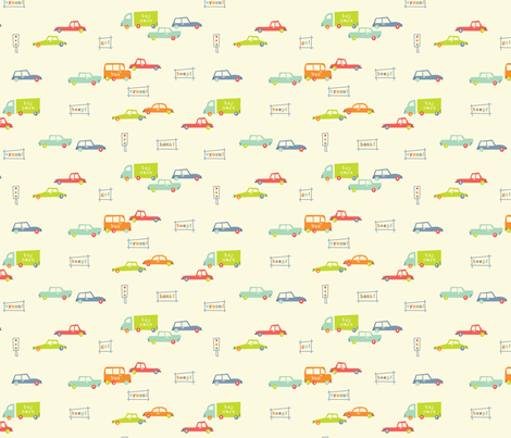mini_car_print fabric by amel24 on Spoonflower - custom fabric