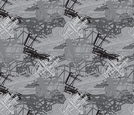 industrial_camo_bw fabric by hollishammonds on Spoonflower - custom fabric