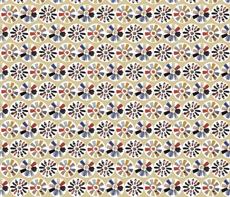 fashion_flower_pinwheels-ch fabric by hollishammonds on Spoonflower - custom fabric