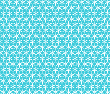 shibori flower circles teal j fabric by fiona_mcdonald_juicyapple on Spoonflower - custom fabric
