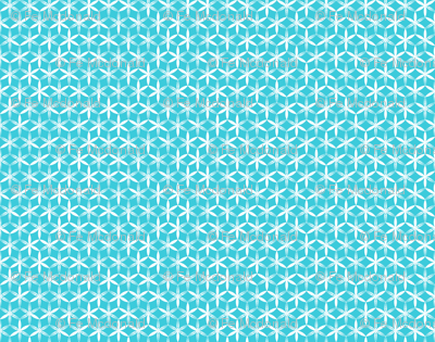shibori flower circles small teal j