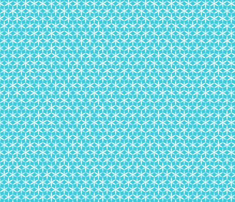 shibori flower circles small teal j fabric by fiona_mcdonald_juicyapple on Spoonflower - custom fabric