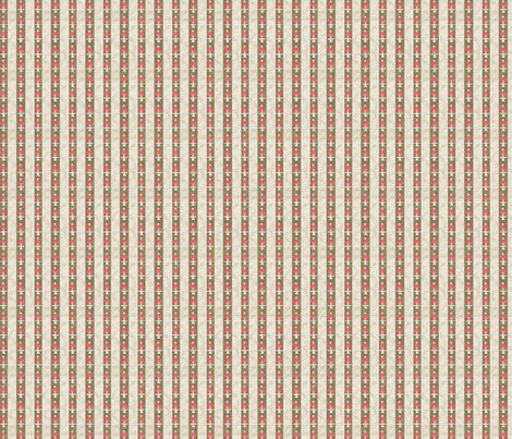 Vintage Brown and Red Stripe fabric by grammak on Spoonflower - custom fabric