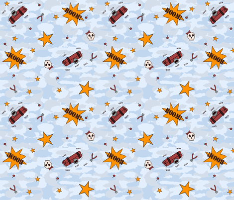 Big Badda Boom! fabric by oakroot_design on Spoonflower - custom fabric