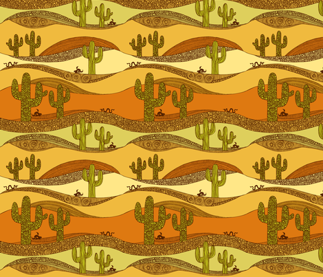 In the desert fabric by valentinaharper on Spoonflower - custom fabric