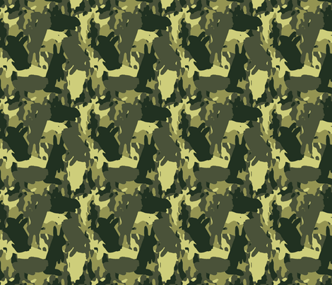 Bunouflage fabric by kdl on Spoonflower - custom fabric