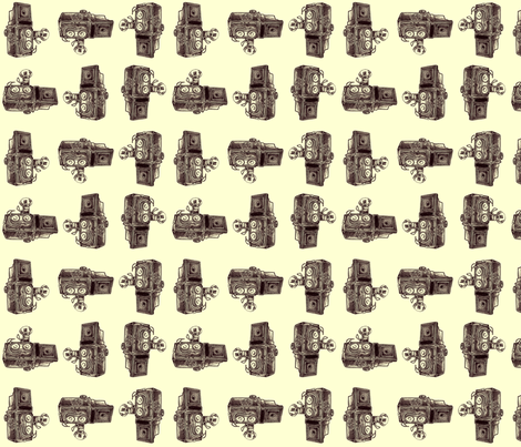 Vintage Cameras - Brown fabric by dorolimited on Spoonflower - custom fabric