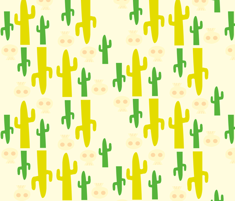 cactus and skulls fabric by helliecopter on Spoonflower - custom fabric