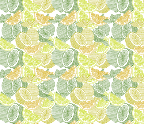Make lemonade fabric by valentinaharper on Spoonflower - custom fabric